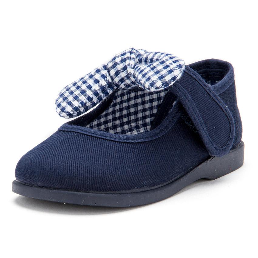 Scarpe tela Velcro con fiocco di Vichy