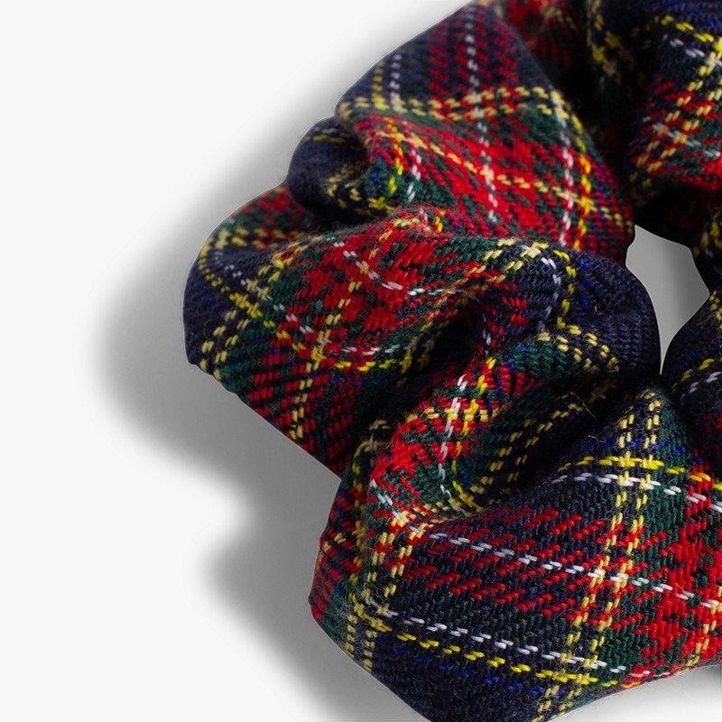 Elastico bambina stampato scozzese