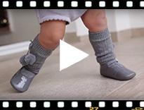 Video from Scarpine Ballerine con Cinturino Neonata Vernice Fibbia