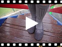 Video from Ballerine bambina scamosciate fasce incrociate tipo danza