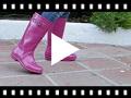 Video from Stivali di gomma glitter