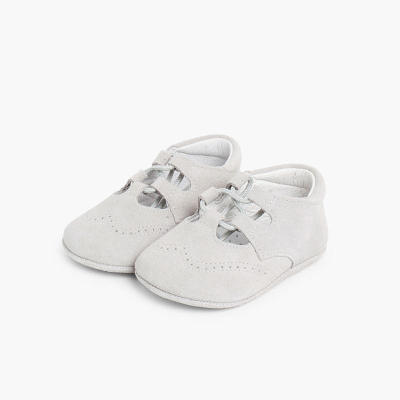 Scarpe/scarpine inglesine bambino scamosciate