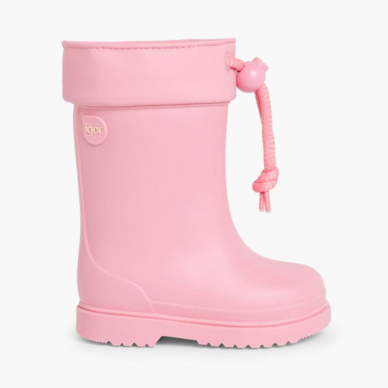 Stivali di gomma per bambini piccoli Igor bordo regolabile