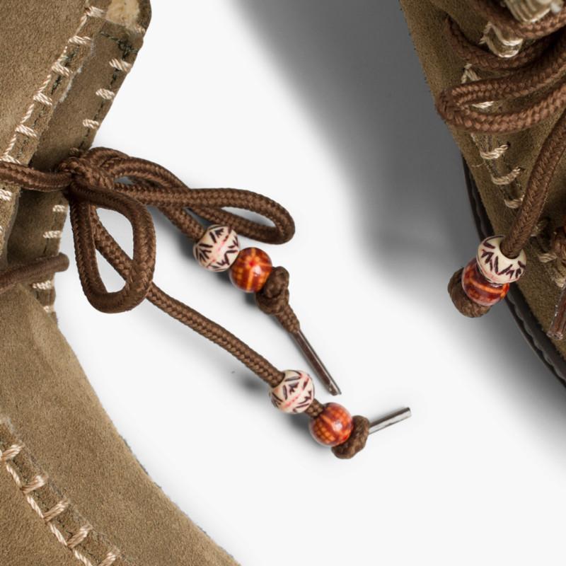 Stivali Scamosciati Imbottiti con ornamento