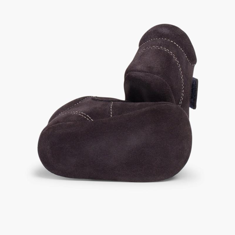 Stivaletti Neonato Scamosciati con Velcro