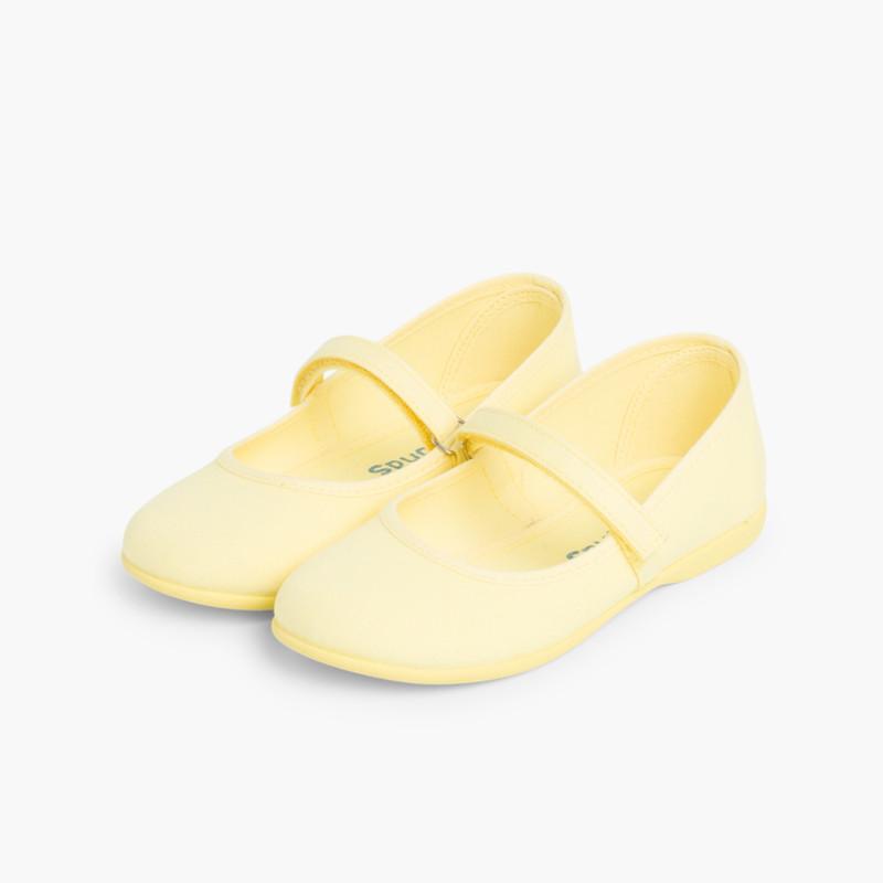Scarpe Bambina Tela Velcro fino