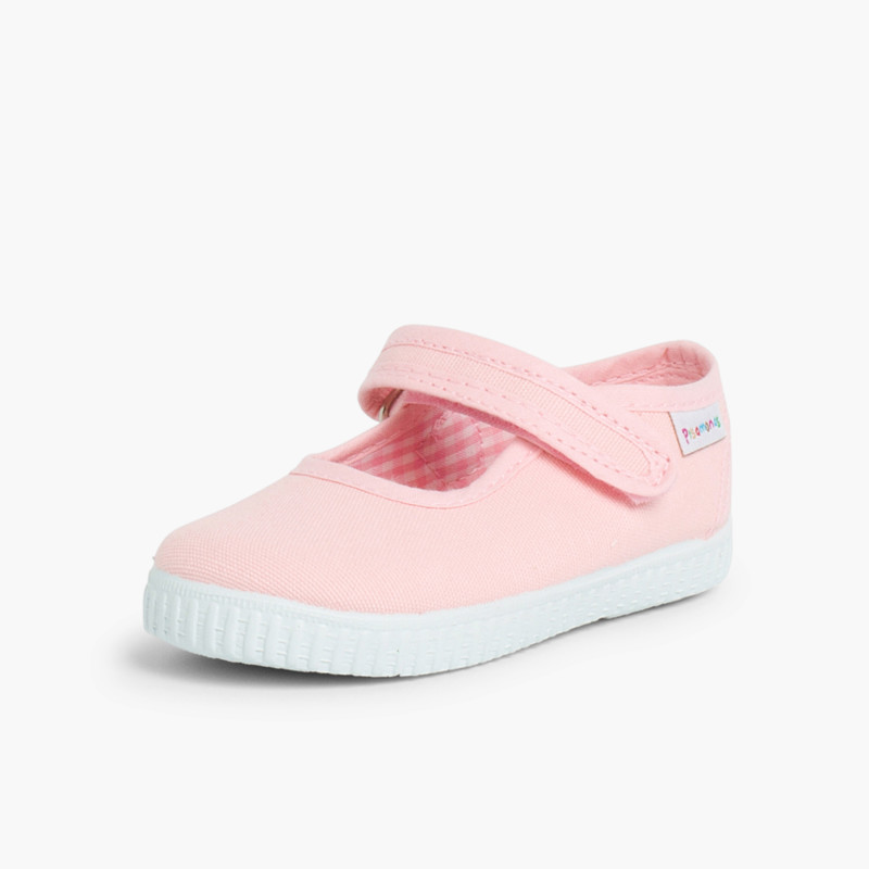 Scarpe Bambina Velcro Suola Tipo Sneakers