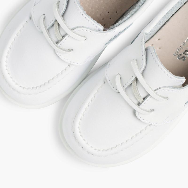 Scarpe tipo da Barca Bambini Pelle Lavabile