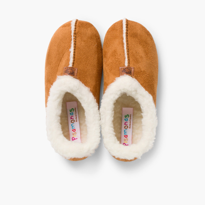 Pantofole Finto Camoscio Fodera tipo Agnello