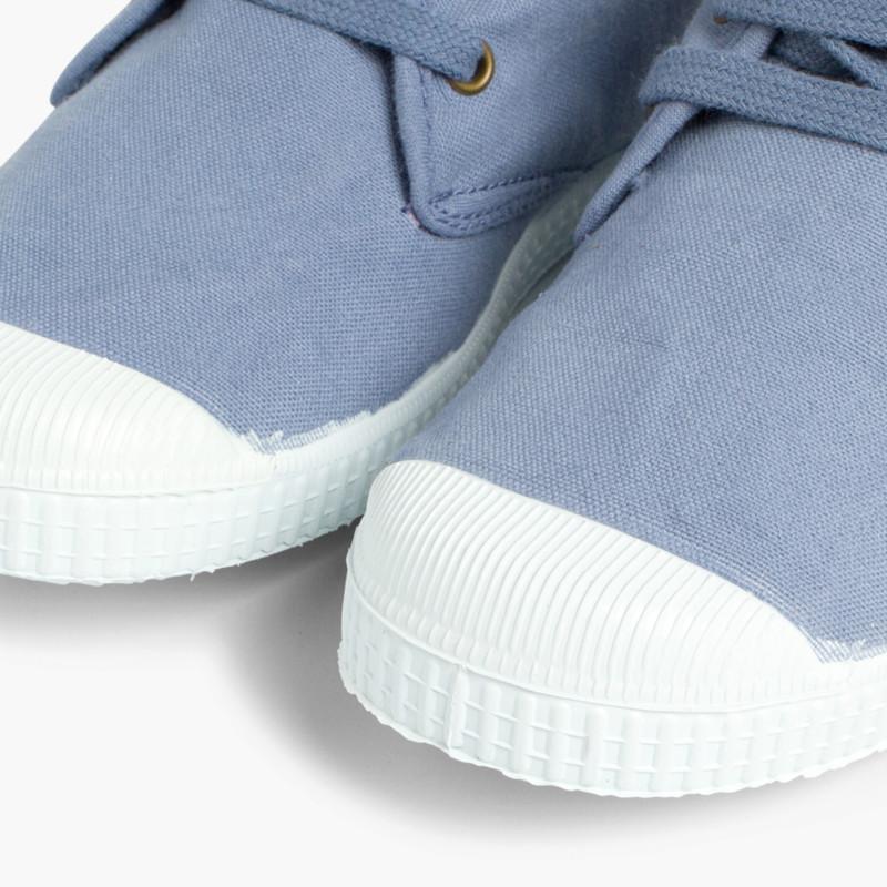 Sneaker in tela alte con stringhe