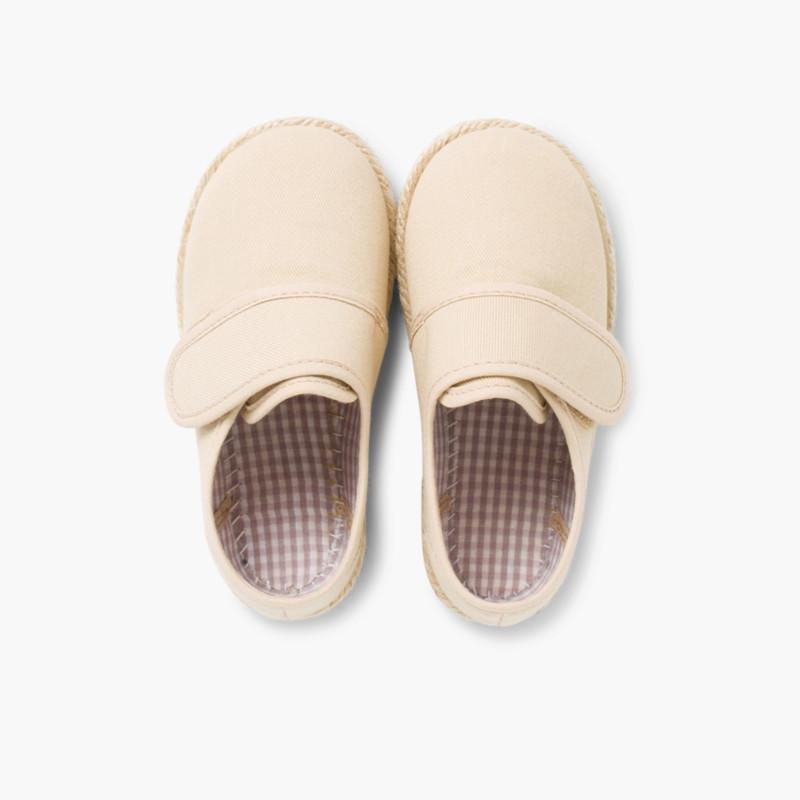 Scarpe Blucher Velcro Suola in Corda
