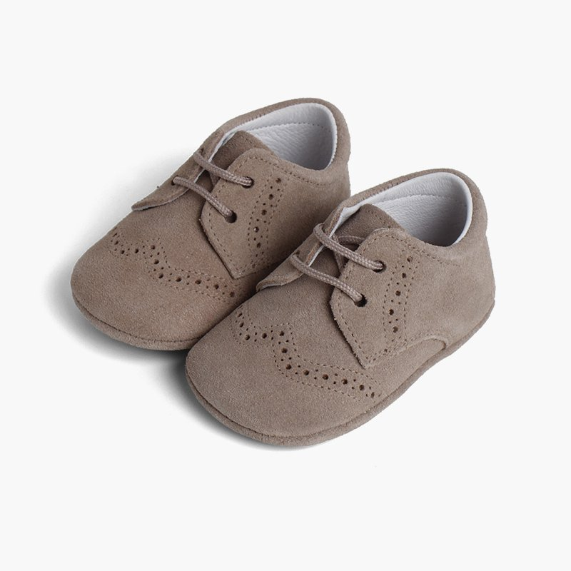 Scarpe Oxford Derby Scamosciate per neonato scamosciate
