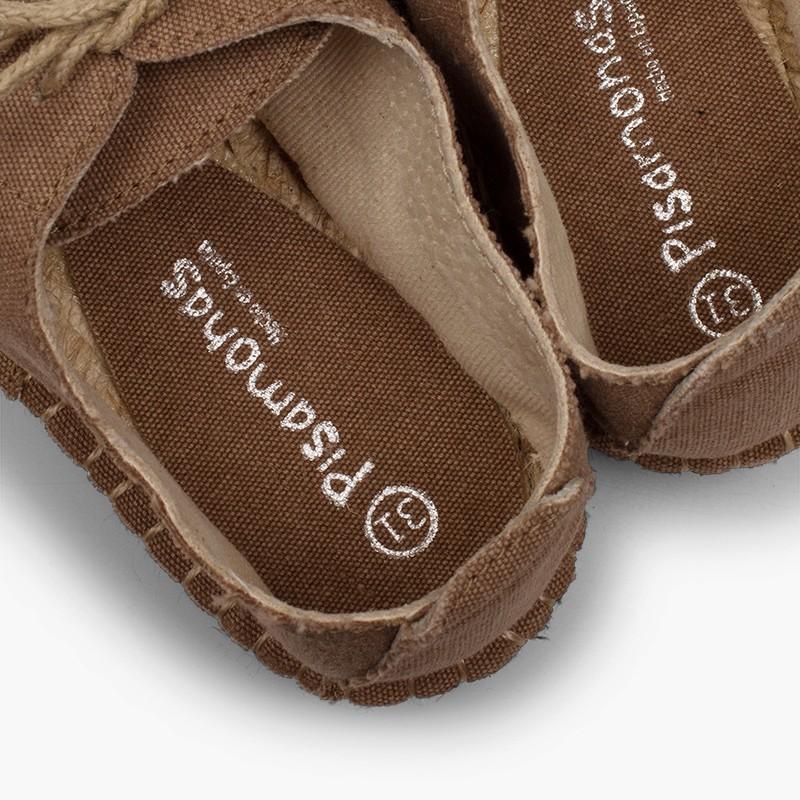 Scarpe Blucher punta e lacci iuta