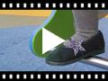 Video from Ballerine con Stella di Glitter e cinturino elastico