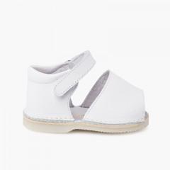Sandali Minorchine pelle triscia aderente bambino  Bianco