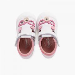 Sandali primi passi orsetto con suola flessibile Rosa