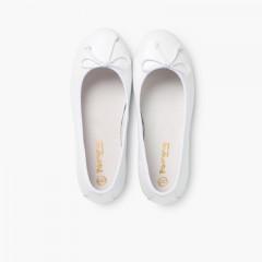 Ballerine Bambina Pelle Comunione Bianco