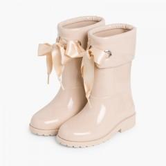 Stivali di gomma bambina vernice di Igor Beige