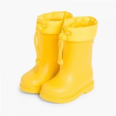 Stivali di gomma per bambini piccoli Igor bordo regolabile Giallo