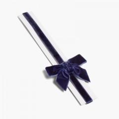Cerchietto elastico di velluto con fiocco