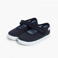 Scarpe Bambina chiusura a strappo Suola Tipo Sneakers Blu