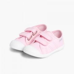 Scarpe Bambini tela Velcro Rosa