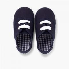 Scarpe Bambini tipo Sneakers con lacci Blu