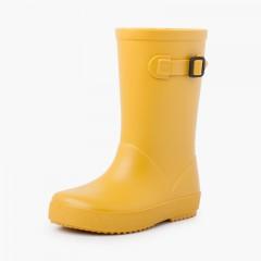 Stivali da pioggia con fibbia pastello Giallo