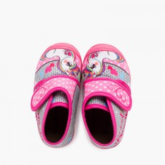 Pantofole Stivaletti Punta Rinforzati Disegni Rosa Unicornios