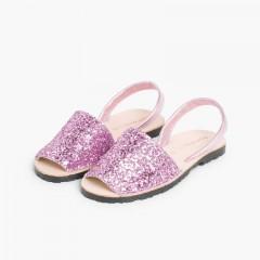 Minorchine Glitter Bambina & Donna Rosa