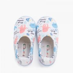 Sneaker chiusa tipo neoprene con disegni Bianco