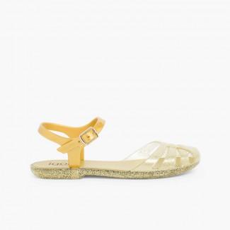 Sandali granchietti per bambina modello Mara Mini Oro