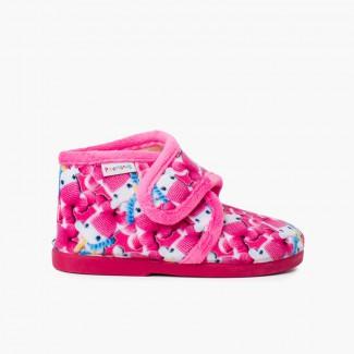 Pantofole Casa Bambini Disegni Fucsia unicorns