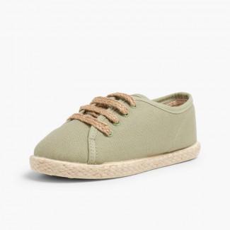 Espadrillas con Lacci tipo Sneakers Verde