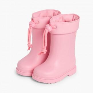 Stivali di gomma per bambini piccoli Igor bordo regolabile Rosa