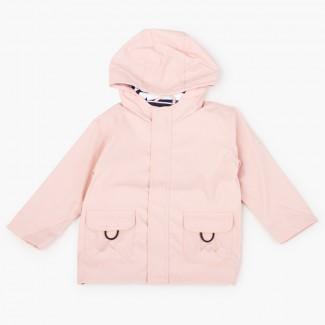 Impermeabile bambino con tasche chiusura zip Rosa Pastello