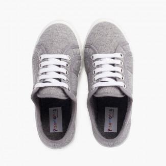Sneakers in Maglia Organica Grigio