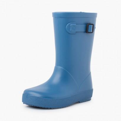 Stivali da pioggia con fibbia pastello Azzurro