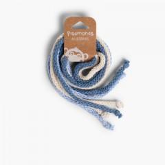 Nastri di Cotone per i Capelli Celeste, Crudo y Azul Francia