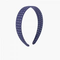 Cerchietto in tessuto stelline Blu