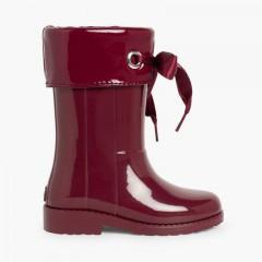 Stivali di gomma bambina vernice di Igor Bordeaux