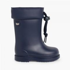 Stivali di gomma per bambini piccoli Igor bordo regolabile Blu