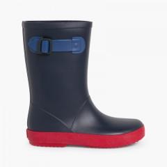 Stivali di gomma bambini Splash Tricolor Blu