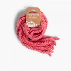 Elastici per capelli da bambina di lana monocolore Anguria