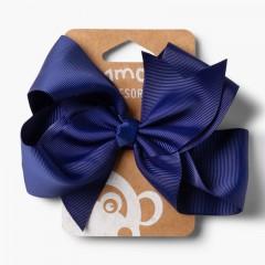 Elastico per capelli bambine fiocco Extra Grande Blu