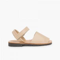 Sandali Minorchine Bambini  Avarcas nappa velcro Sabbia