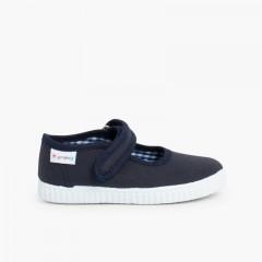 Scarpe Bambina Velcro Suola Tipo Sneakers Blu