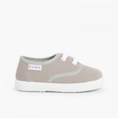 Scarpe Bambini tipo Sneakers con lacci Grigio