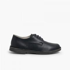 Scarpe modello Oxford Bambino Pelle Blu