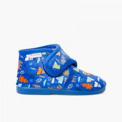 Stivali da casa con chiusura slip-on stampati Azul Bosque